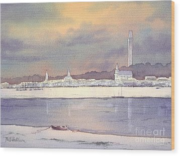 Provincetown Evening Lights Wood Print