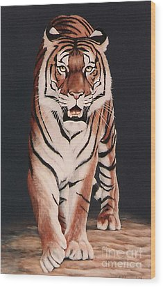 Wood Print featuring the painting Prowl by DiDi Higginbotham