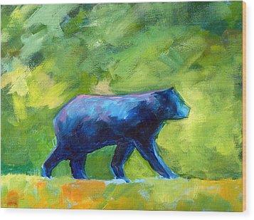 Prowling Wood Print by Nancy Merkle