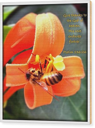 Psalm 136 26 Wood Print