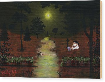 Psalm 23  Wood Print by Michael Rucker
