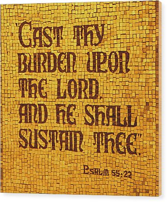 Psalm 55 Wood Print by James Hammen