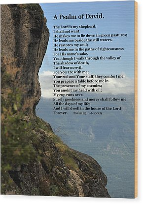 Psalm Of David Wood Print by Kirt Tisdale