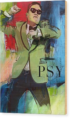 Psy Wood Print by Corporate Art Task Force