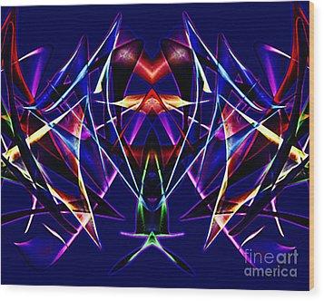 Psychedelic Bat N Wings Wood Print