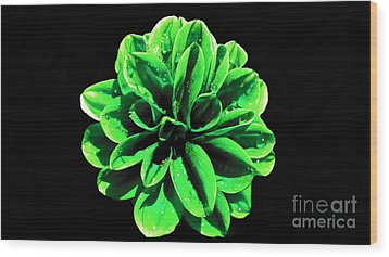 Wood Print featuring the photograph Psychedelic Flower 3 by Sarah Mullin