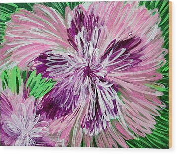 Psychedelic Flower Wood Print
