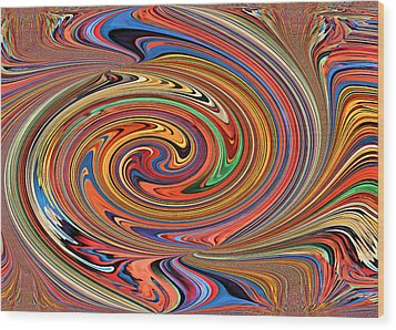 Psychedelic Wood Print by Kristin Elmquist