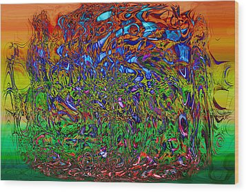 Psychedelic Mind Wood Print