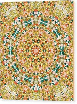 Psychedelic Pattern Wood Print by Jose Elias - Sofia Pereira