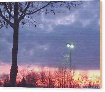 Wood Print featuring the photograph Psychedelic Sunset by Lyric Lucas