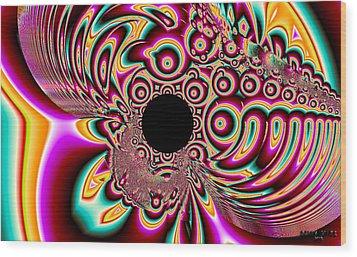 Psychedelic Swirls Wood Print