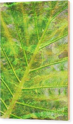 Psychedelic Venation Wood Print by Floyd Menezes