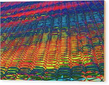 Psychedelic Yarn Wood Print by James Hammen