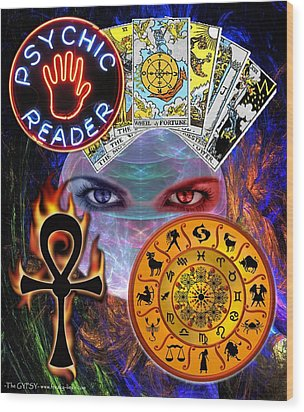 Psychic Reader Wood Print