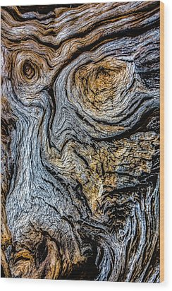 Wood Print featuring the photograph Psychedelic Wood by Beverly Parks