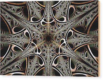 Psychotronic Revolution Wood Print by Anastasiya Malakhova