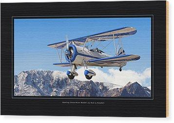 Pt-17 Stearman Wood Print by Larry McManus