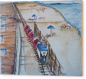 Pt Pleasant Nj Sand Train Wood Print