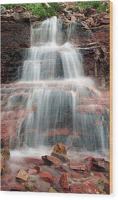 Ptarmigan Trail Waterfall No.4 Wood Print by Daniel Woodrum