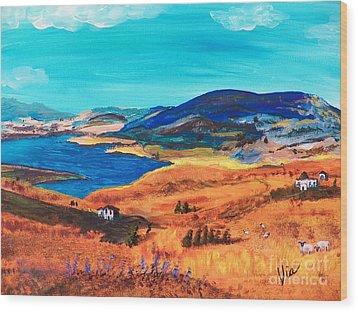 Ptg   Italian Countryside Wood Print by Judy Via-Wolff