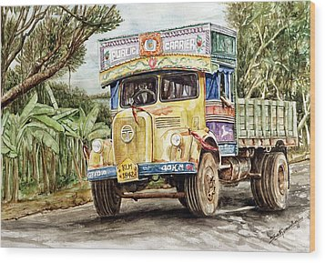 Public Carrier Wood Print by Sethu Madhavan