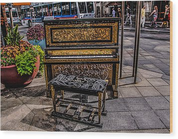 Public Piano Wood Print by Ray Congrove