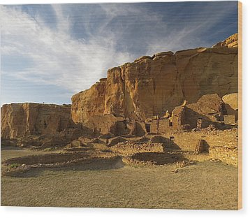 Pueblo Bonito Afternoon Wood Print by Feva  Fotos