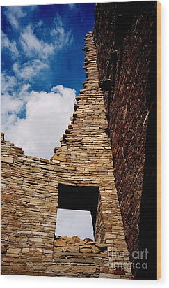 Wood Print featuring the photograph Pueblo Bonito New Mexico by Jacqueline M Lewis