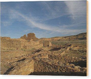 Pueblo Bonito Walls And Rooms Wood Print by Feva  Fotos