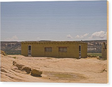 Pueblo Home Wood Print