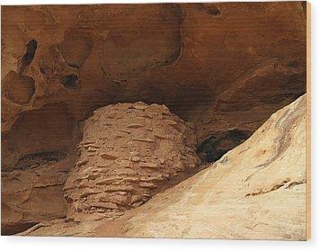 Pueblo Indian Ruins Wood Print by Jeff Swan