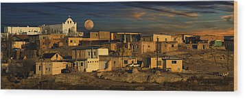 Pueblo Sunrise Wood Print by Wendell Thompson