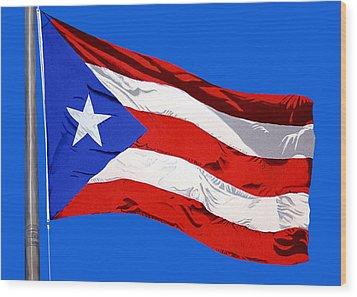 Puerto Rican Flag Wood Print