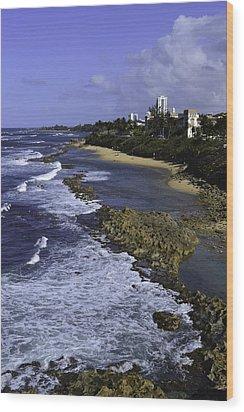 Puerto Rico Coastline Wood Print