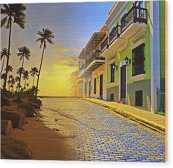 Puerto Rico Collage 2 Wood Print