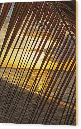 Puerto Rico Sunset 2 Wood Print by Stephen Anderson