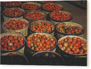 Puerto Rico Tomatoes Wood Print by Granger