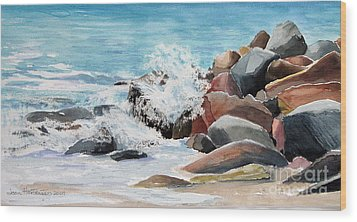 Puerto Vallarta Rocks Wood Print