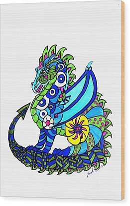 Puff The Magic Dragon Wood Print