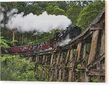 Puffing Billy Wood Print by Kim Andelkovic