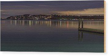 Puget Sound Reflections Wood Print by Greggory Burt