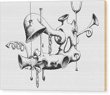 Pull My Chain Sweetheart Wood Print by Sam Sidders