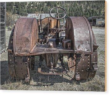 Pulling End Of Mccormick-deering Tractor Wood Print by Daniel Hagerman