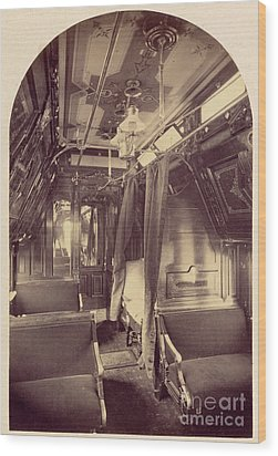 Pullman Palace Sleeping Car 1870 Wood Print by Getty Research Institute