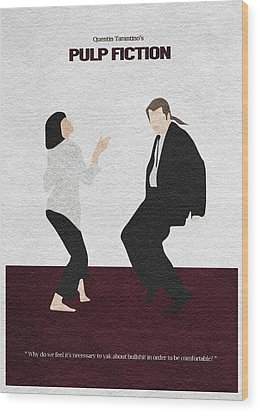 Pulp Fiction 2 Wood Print by Ayse Deniz