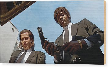 Pulp Fiction Artwork 1 Wood Print by Sheraz A