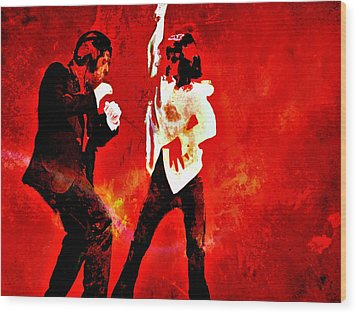 Pulp Fiction Dance 2 Wood Print