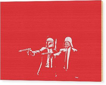 Pulp Wars Wood Print by Patrick Charbonneau