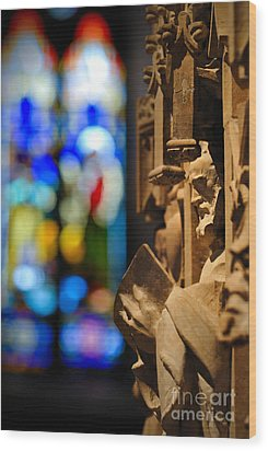 Pulpit Trinity Cathedral Pittsburgh Wood Print by Amy Cicconi
